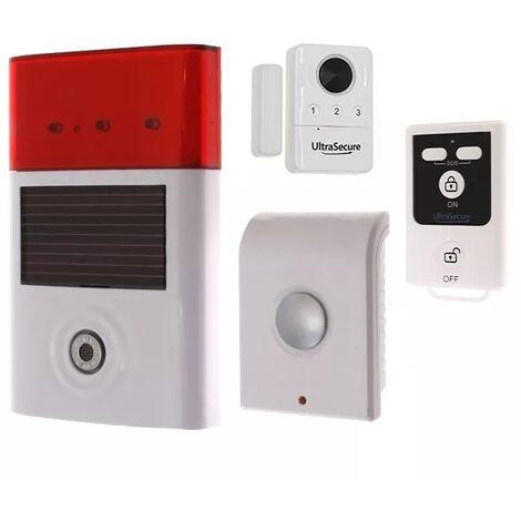 Kit autonome sans-fil triple sirène + détecteur d'ouverture porte et fenêtre + télécommande (gamme BT)