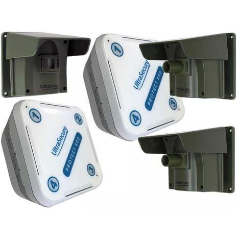 Kit avancé 3 Protect 800 - alarme d'allée sans fil longue distance (2 récepteurs, 3 détecteurs)