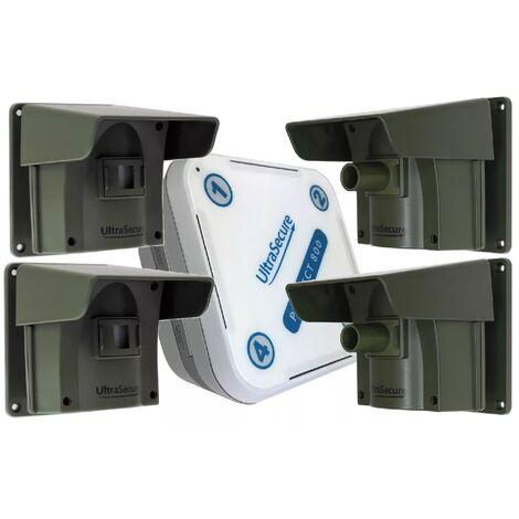 Kit avancé 4 Protect 800 - alarme d'allée sans fil longue distance (1 récepteur, 4 détecteurs)
