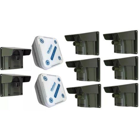 Kit avancé deluxe Protect 800 - alerte de passage sans fil longue distance (2 récepteurs, 8 détecteurs)