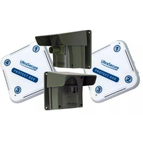 Kit avancé Protect 800 double - alerte de passage sans fil longue distance (2 récepteurs, 2 détecteurs)
