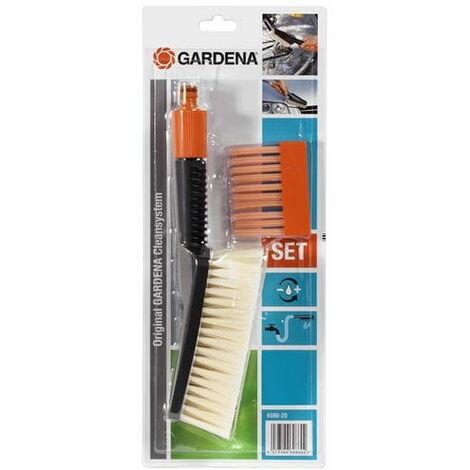 Kit: balai de lavage + 10 bâtonnets de shampoing de cire GARDENA