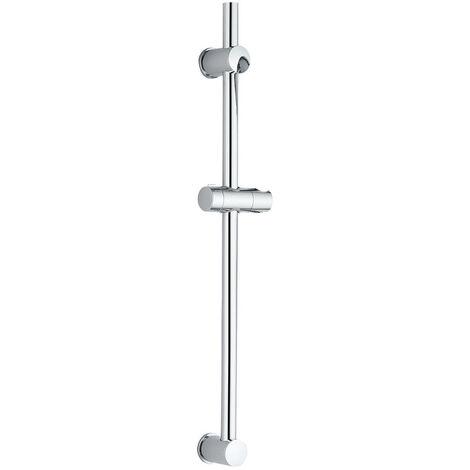 Kit barra de ducha BAR, con soporte deslizante para maneral, tubo de diámetro de 25 mm fabricado en acero inoxidable. Soportes de fijación y deslizante en ABS Kibath
