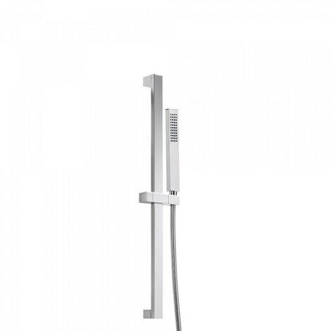 Kit barre‑douche avec flexible satin Chromé PROJECT-SLIM - TRES 03452602
