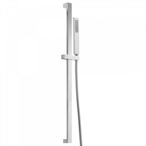 Kit barre‑douche avec flexible satin Chromé PROJECT-SLIM - TRES 03452702