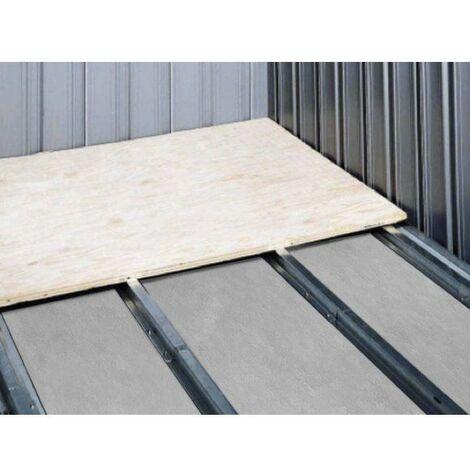 Kit Base Pavimento in acciaio per Box in lamiera di acciaio zincata misura 3.45 x 1.86