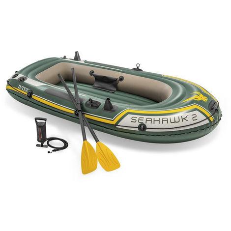Kit bateau gonflable 2 places Seahawk 2 avec rames et gonfleur - Intex