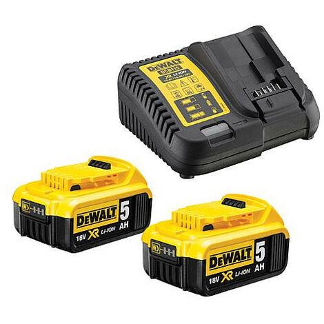Kit batterie Dewalt 18V/5,0Ah avec chargeur DCB 115