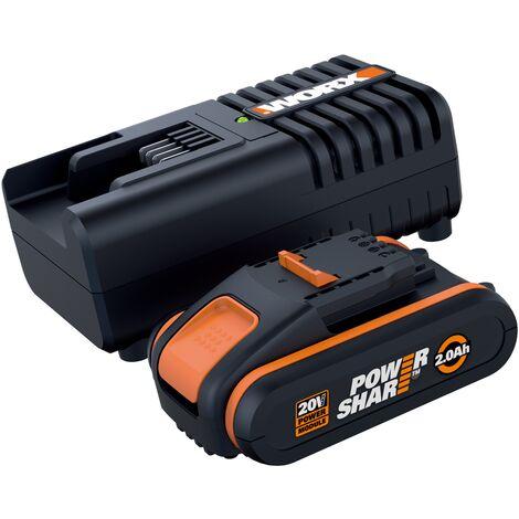 Kit batterie et chargeur Worx 20V 2Ah
