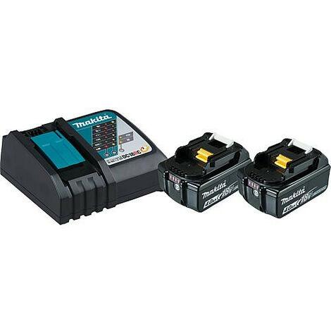 Kit Batterie MAKITA 18V 2x 4,0 Ah Li-Ion batteries et 1 chargeur 197490-7