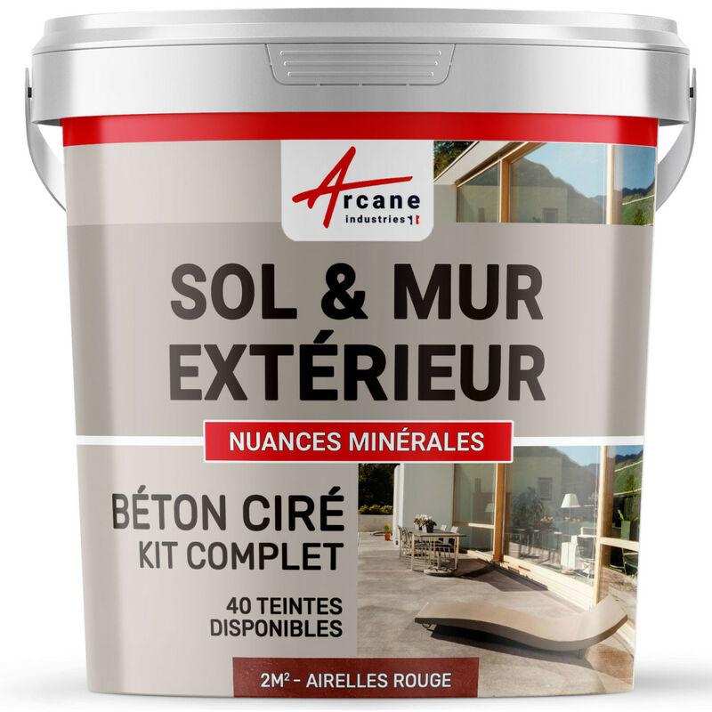 Kit Beton Cire Exterieur Pour Sol Mur Terrasse Balcon Escalier Arcane Industries Airelles Rouge Kit 2 M 2 Couches 110 23736