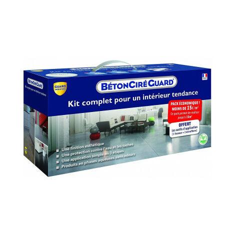 """main image of """"Kit Beton Ciré Guard - Gris Béton - complet + outils d'application gratuit- 16m²"""""""