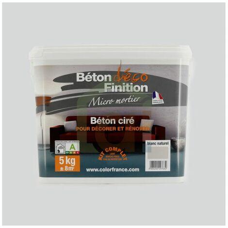 Kit béton ciré pour la décoration intérieure et l'extérieure Pot de 5kg | kit(s) de 0 - Blanc naturel - Pot de 5kg