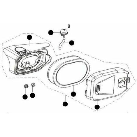 Kit boitier filtre à air moteur tondeuse Mc Culloch