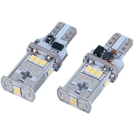 KIT Bombillas LED T15 5.3W para coche o moto Blanco Frío 6000K