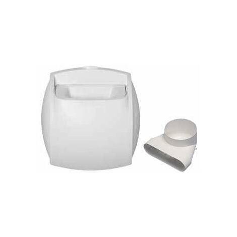 Kit bouche auto extraction 125 Minigaine - BAP'SI ALDES - 11023231 Kit bouche pour sanitaire et accessoires pour conduit de ventilation Minigaine Aldes