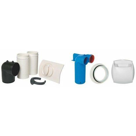 Kit bouches autoréglable et extraction pour VMC double flux - Pour logement T3/T4 - Réseau Optiflex