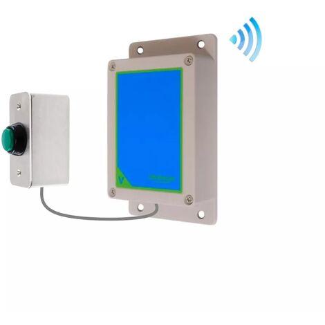 Kit bouton-émetteur sonnette IP65 sans-fil autonome extérieure longue portée haute résistance (PROTECT 800)