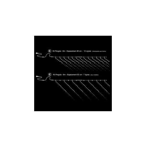 Kit C - Pergola 6m (Prise + Rallonge 5m + 2x 66370 + 66350)