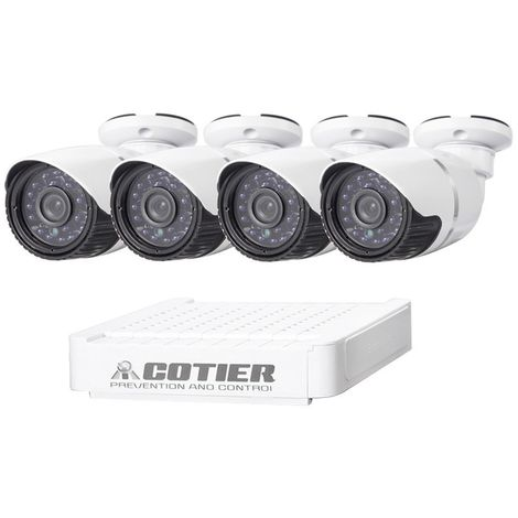 Kit caméra NVR pour IP méga pixel / L 4 Ch 720P, support de vision nocturne / détection de mouvement, distance IR: 20 m