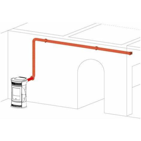 Kit canalizzazione aria calda per stufa a pellet 772840 Kit 11BIS Edilkamin