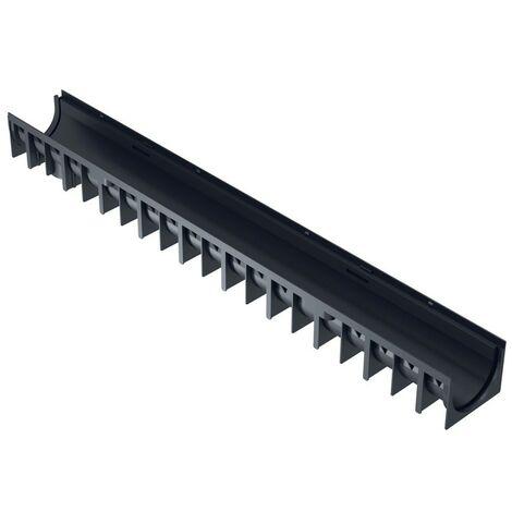 Kit caniveau 3 ML PEHD avec grilles en acier galvanisé - INTERPLAST