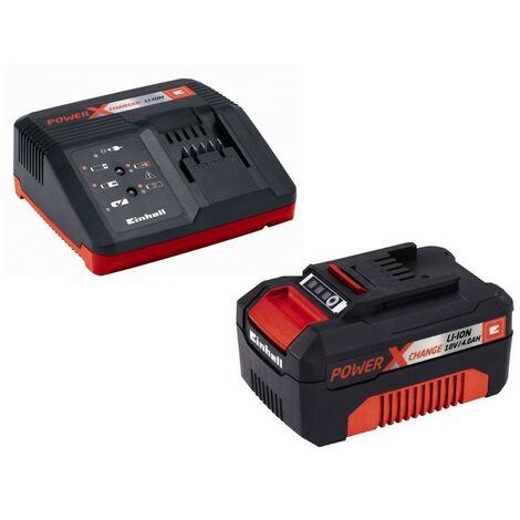 Kit Cargador de batería Power-X-Change 18 V + batería de repuesto 18V 4Ah Einhell