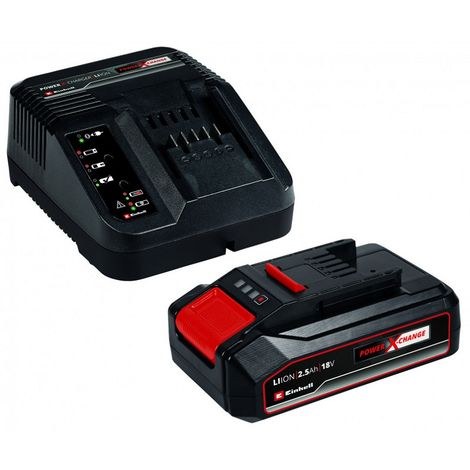 Kit Cargador Power-X 18V + batería de repuesto 18V 2.5Ah Einhell