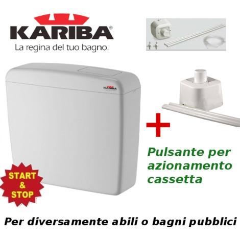 kariba cassetta esterna wc  KIT Cassetta Esterna per WC Disabili Diversamente Abili con pulsante ...