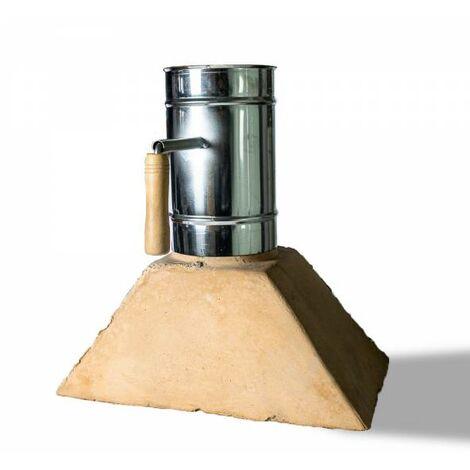 Kit chimenea refractaria horno con tiro inox 15 cm