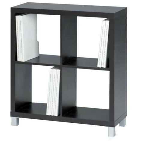 KIT CLOSET Kubox Series Storage Cabinet - 4 compartments - Black - 83 x 29 x 76 cm