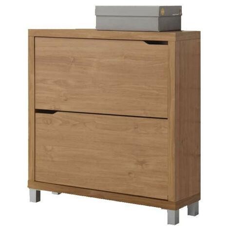 KIT CLOSET shoe cabinet Kubox Series - 12 pairs - White and black - 84 x 24 x 79 cm