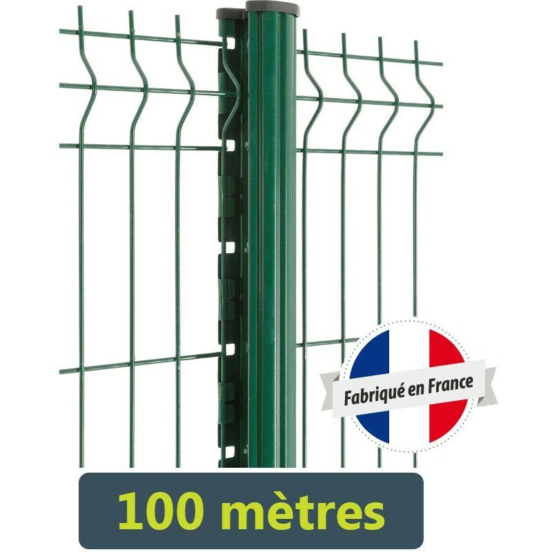 Easycloture - Kit clôture Easy PRO 5 - 100 mètres Hauteur : 1.23 Mètre Gris Anthracite