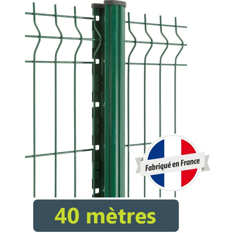 Easycloture - Kit clôture Easy PRO 5 - 40 mètres Hauteur : 1.53 Mètre Gris Anthracite