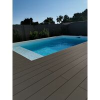 Kit complet 10 m² terrasse composite Anthracite