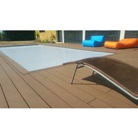 Kit complet 10 m² terrasse composite chocolat