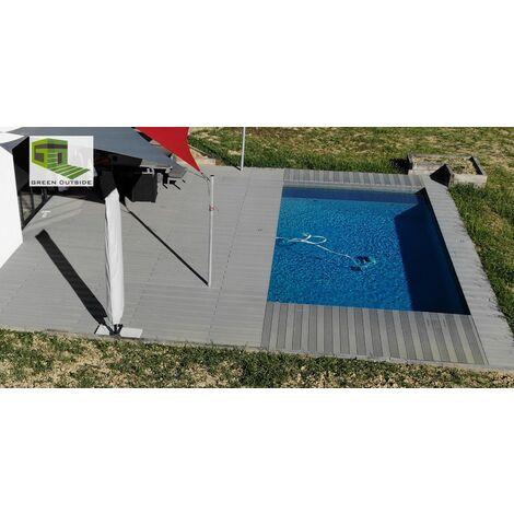 Kit complet 10 m² terrasse composite Gris