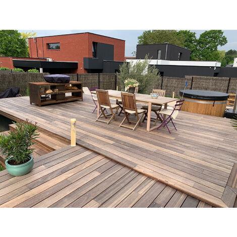 [KIT COMPLET] 10m2 Terrasse Bois Exotique Padouk (compris Lambourdes, Visseries Et Livraison Sur Rendez-vous)