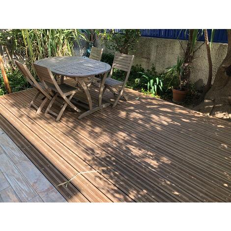 [KIT COMPLET] 20m2 Terrasse Bois Pin Autoclave Brun Classe 3 (compris Lambourdes, Visseries Et Livraison Sur Rendez-vous)