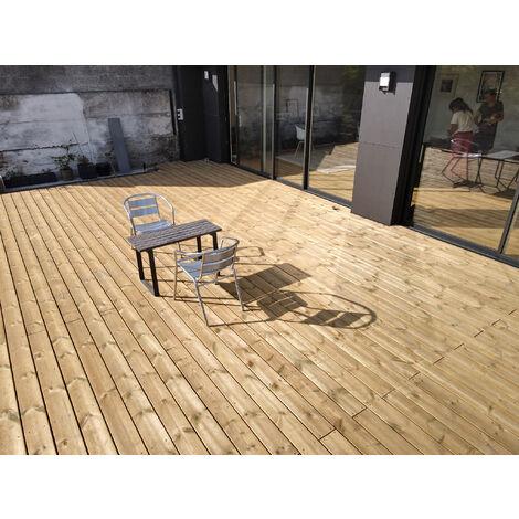 [KIT COMPLET] 40m2 Terrasse Bois Pin Autoclave Classe 4 (compris Lambourdes, Visseries Et Livraison Sur Rendez-vous)