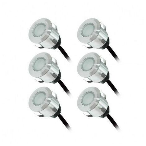 Kit Complet 6 Mini Spots Encastrables x 0.6W 12V LED