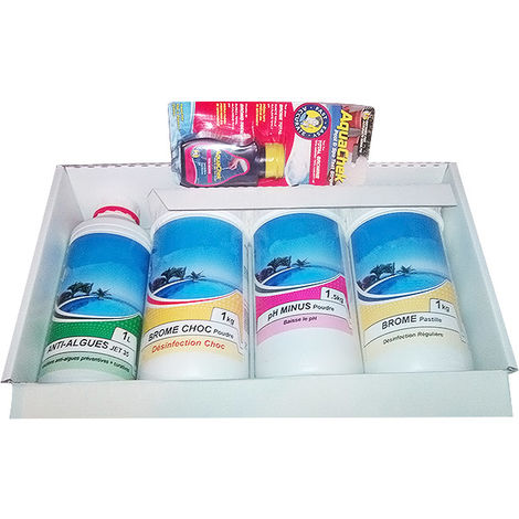 kit complet de produits pour le traitement au brome - kit spa brome - nmp