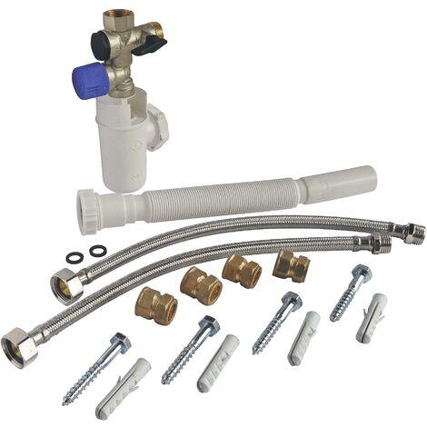 Kit complet de raccordement chauffe-eau avec Groupe de sécurité eau neutre
