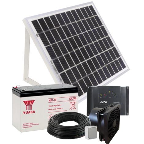Kit complet de ventilation solaire 10W 160m3/h - fixation & batterie