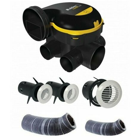 Kit complet gaines et vmc simple flux easyhome auto + grilles de ventilation bip