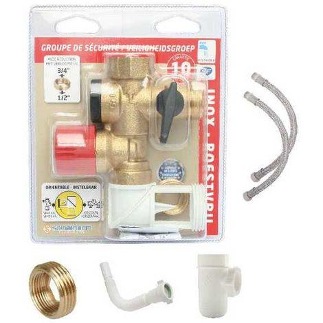 Kit complet groupe de sécurité orientable inox 3/4(20/27)
