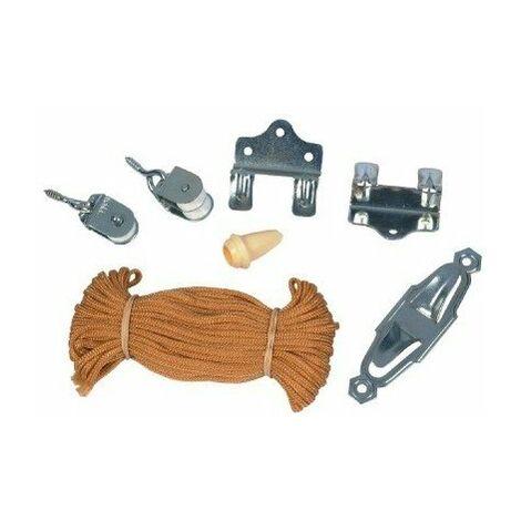 Kit complet pour montage store cordon chamois