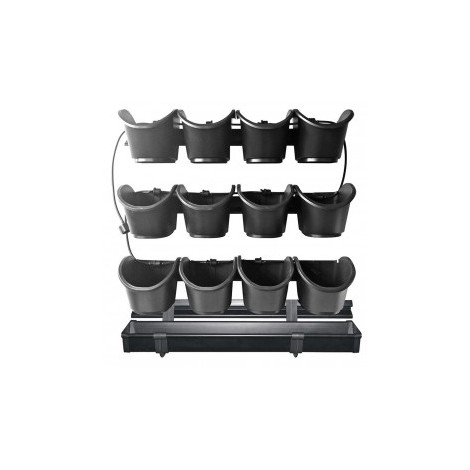 Kit complet pour potager vertical/mur végétal - 60 x 60 cm
