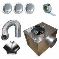 Kit complet récupérateur de chaleur cheminair 400 m3/h - 65w unelvent.
