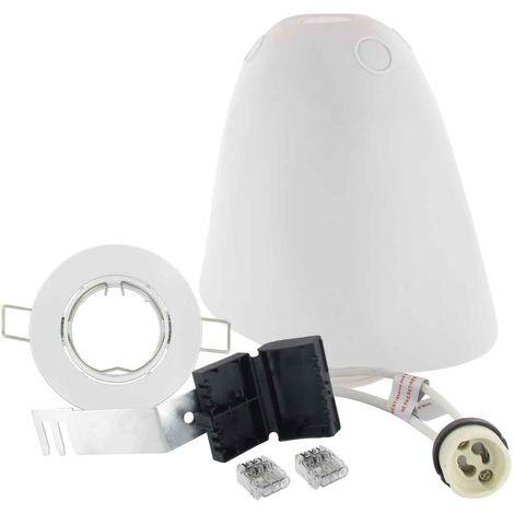 Kit complet SPOTBOX Orientable blanc maison BBC RT2012 pour ampoule GU10 D75 BLM - 694899